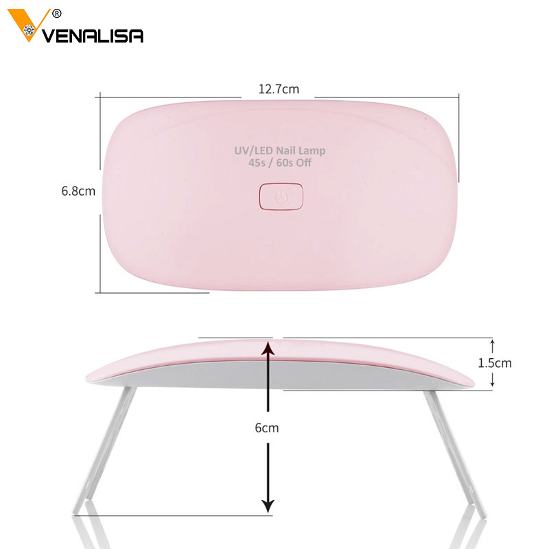 Profesional 6 W venalisa LED UV lámpara con USB Plug Esmaltes gel de ...