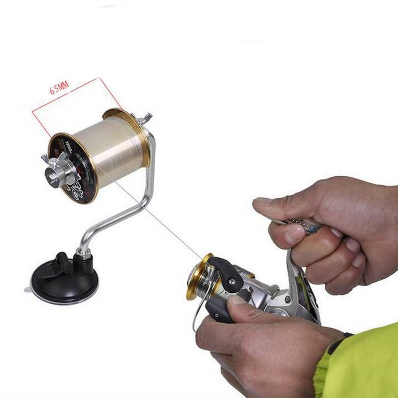 Portable Aluminum Fishing Line Winder Fishing Reel Spool Spooler System Tackle Tool Suction Cup Sea Carp Fishing Accessories