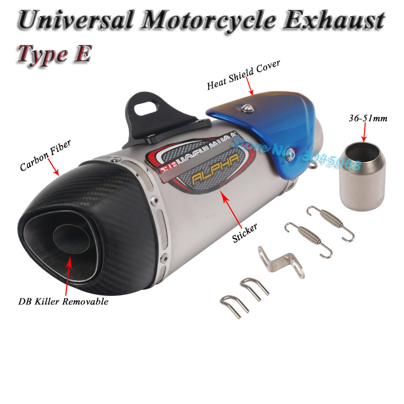 Image 5 - Universal Motorcycle Yoshimura Exhaust Pipe Escape Modified Carbon Muffler DB Killer Silencer For Ninja 400 GSXR600 K6 KTM R15-in Exhaust & Exhaust Systems from Automobiles & Motorcycles