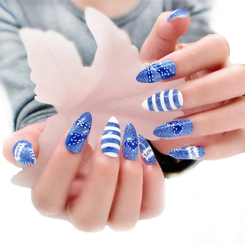 24 stks / pak Kunstnagels Volledige Cover Fake Nagels voor Nail Art - Nagel kunst - Foto 2