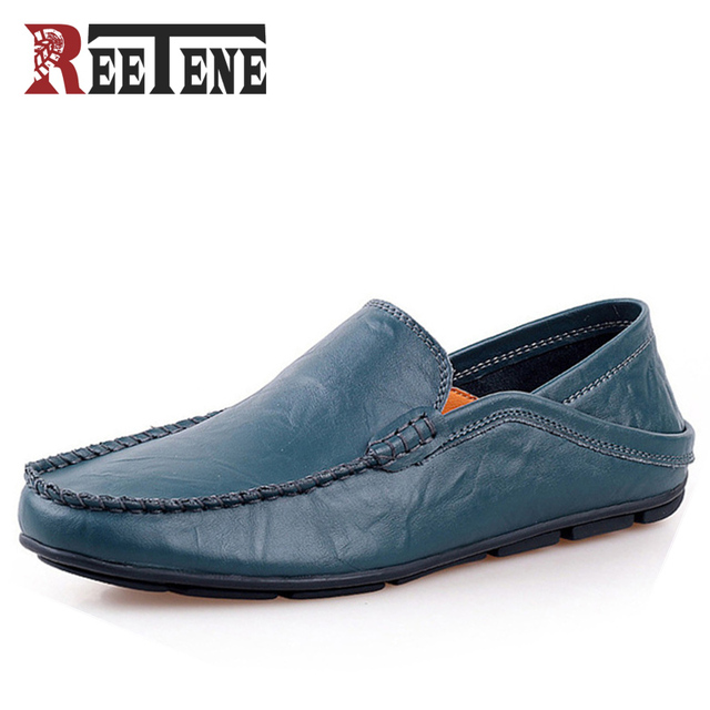 High Quality Mens Loafers Leather,Genuine Leather Men Loafers,Fashion Flats Shoes,Driving Men Casual Shoes Plus Size 45 46