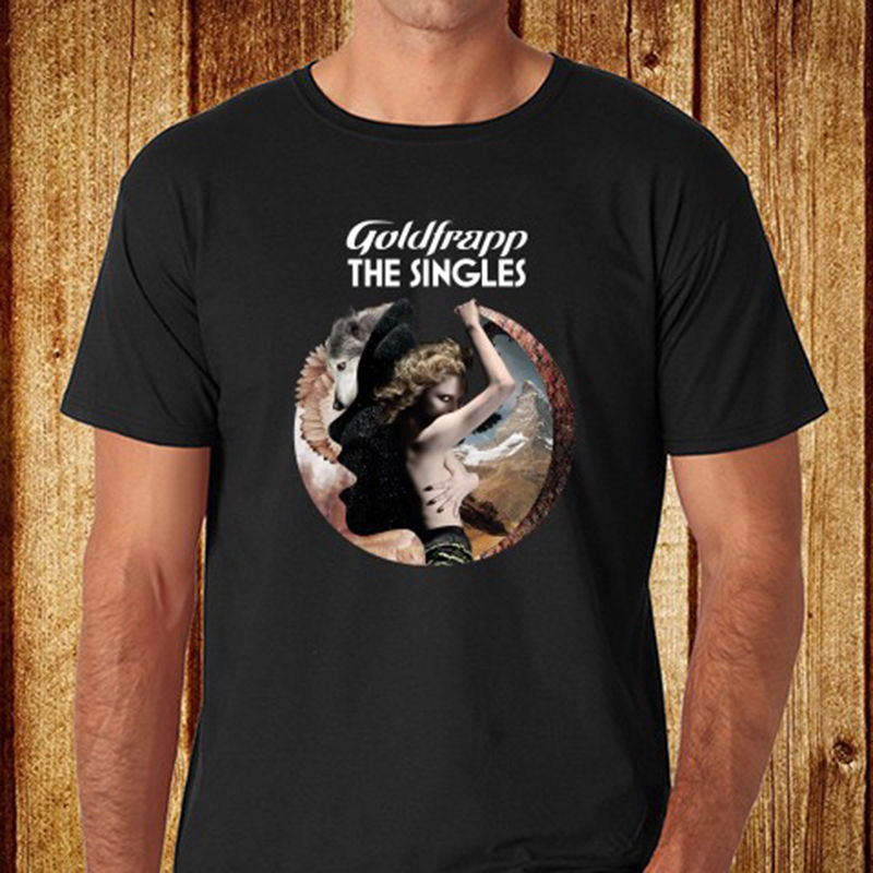 New Goldfrapp The Singles Electronic Duo Group Mens Black T-Shirt Size S-3XL New T Shirt Funny Tops Tee Shirt