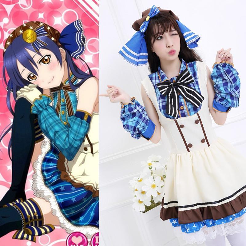 Coffee shop working uniform font b cosplay b font costume Japanese font b anime b font