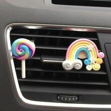 Car Styling Rainbow/Lollipop Air Outlet Perfume Clip Car Air Freshener Air Conditioner Auto