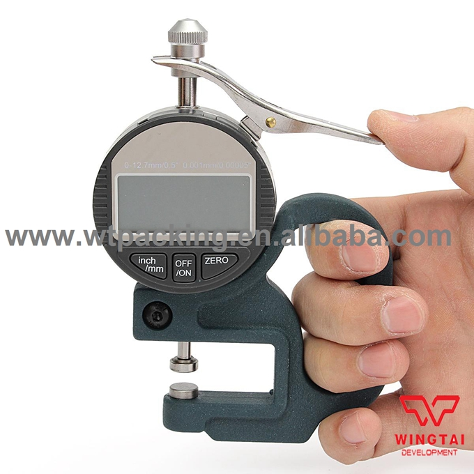 BY02 0.001mm Accuracy Metal, stainless steel probe Digital Display Micrometer Thickness Gauge