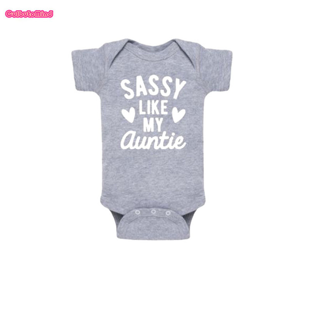 2c2955c71e02 Culbutomind Sassy Like My Auntie Cotton Short Sleeve Funny Baby ...