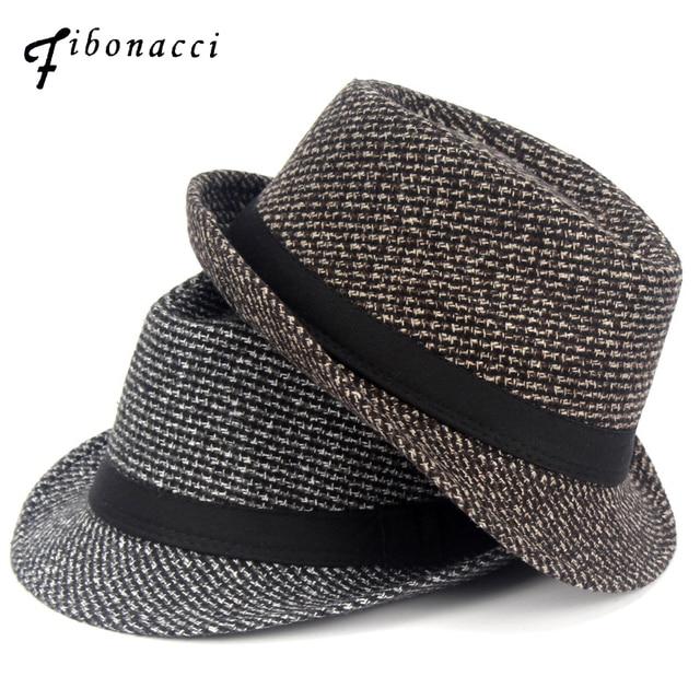 6f9cdbb16e2 Fibonacci 2017 New Fedoras Fashion knitting Dot Jazz Small Fedora Hat Men  Women's Hats Popular Vintage Caps