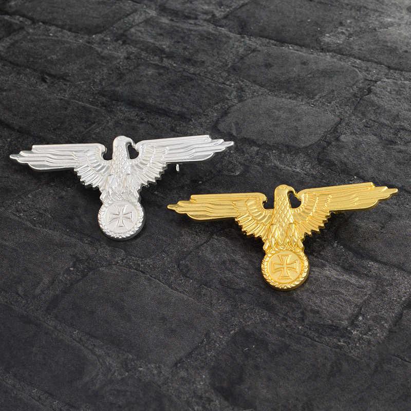 Немецкая Военная немецкая ветерана, ветерана, козырек, кепка, Орел, броши на булавке, значки, броши для мужчин, золотой, серебряный цвет
