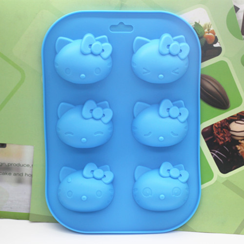 6 полости Kity кошка форма силиконовая cookie формы ручной работы формы торт шоколадный фондан Выпечка Плесень DIY Инструменты