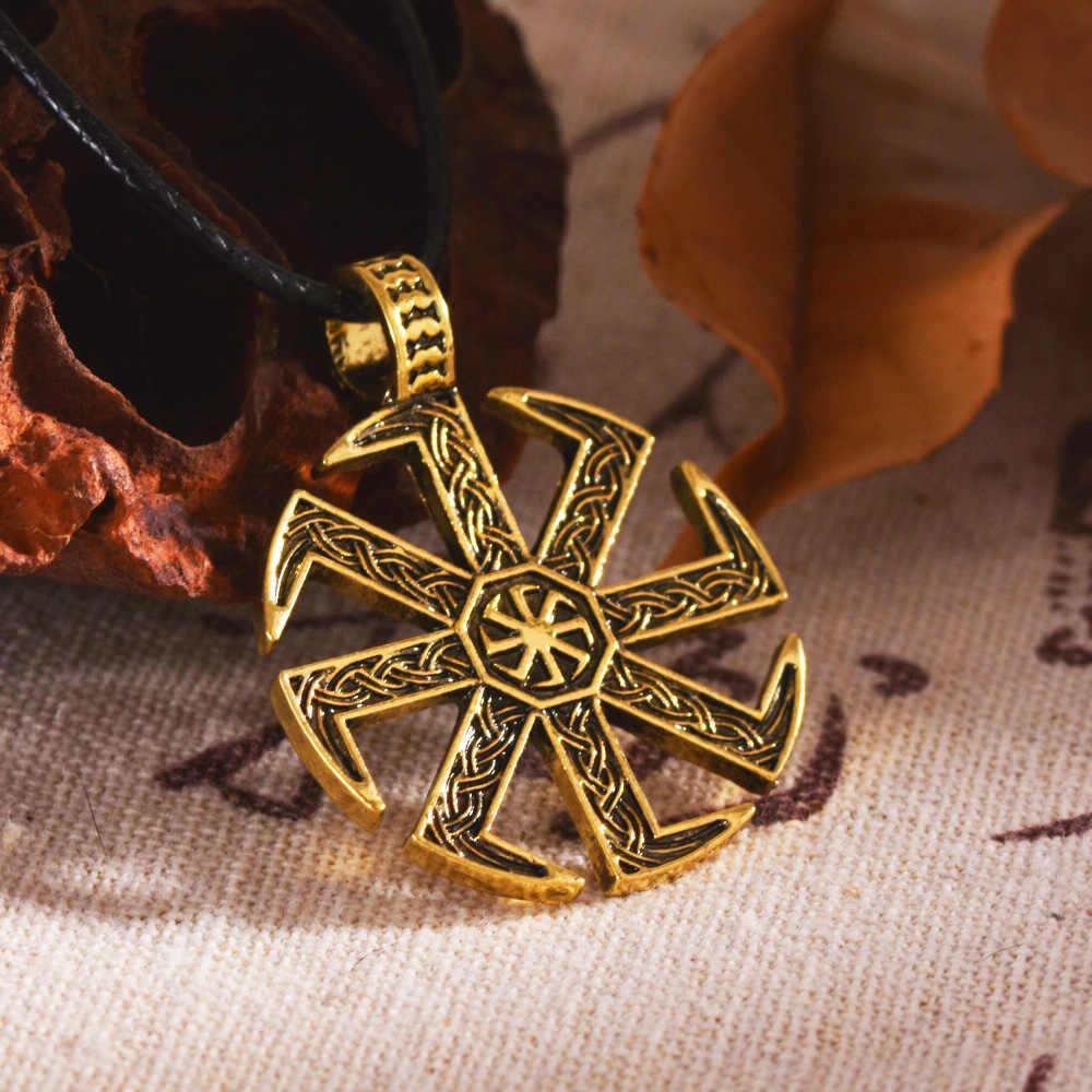 Pendentif Kolovrat slave Vintage amulette païenne Viking bijoux 1pc
