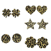 Free shipping Sexy experience 10 pairs (20Pcs) / Leopard Pasties Nipple Covers 5 colors