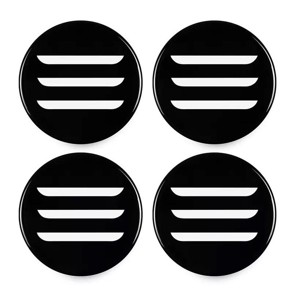 Tapa de tapacubos de 4 Paquetes con Logotipo Modelo 3 dise/ño Elegante Tapas de llanta Accesorios de Gran Tesla Cubo de Rueda Central Tesla Modelo 3