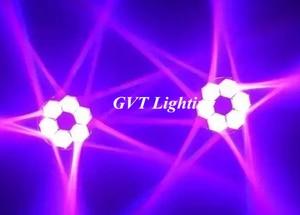Image 4 - 4 pçs/lote LED Mini Abelha Olho Levou Movendo a Cabeça Feixe de Luz Efeito 6x15W dj discoteca DMX512 4IN1 RGBW CONDUZIU a Lâmpada 10/15CH