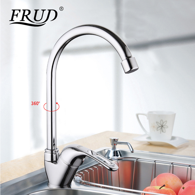 Frud 1set Tall Silver Flexible Kitchen Sink Drinking Water Faucet