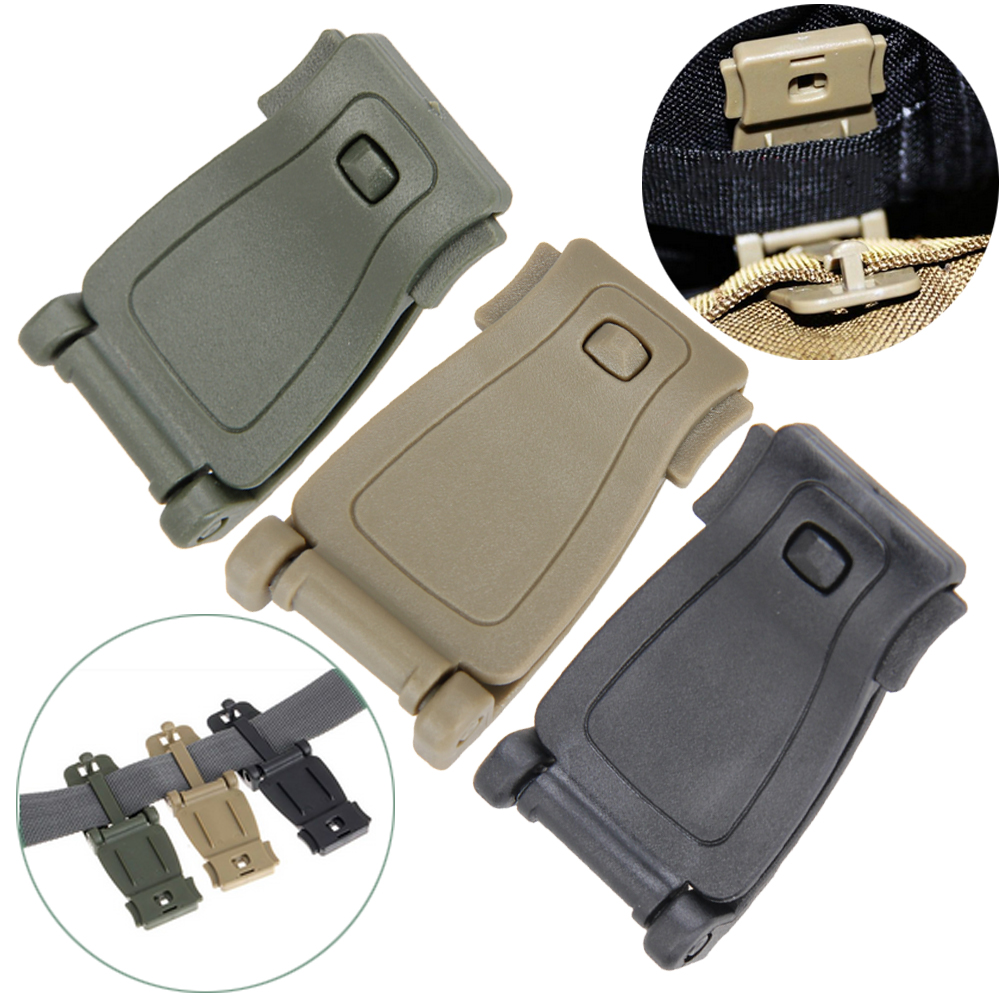 Outdoor 5Pcs/Set  Molle Strap Backpack Bag Webbing Connecting Buckle Clip Military Backpack Accessory EDC GEAR Travel Kits edc bag tool army fan carabiner nylon webbing backpack buckle mini clip fashion