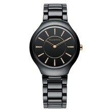 FLAMEJANTE Miyota Quartz Relógios Mulheres Cerâmica Moda Série 4 Modelos Super relógios de Pulso com Caixa De Cerâmica e Presentes de Cristal