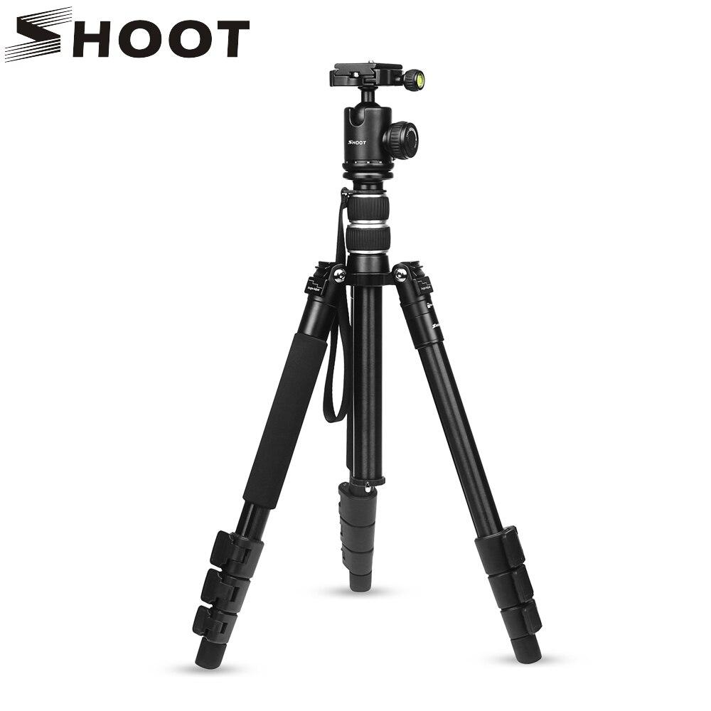 Снимать гибкие 4-разделы Алюминий сплава путешествия Камера стенд Штатив для Canon Nikon sony SLR DSLR штатив-тренога для видеокамеры