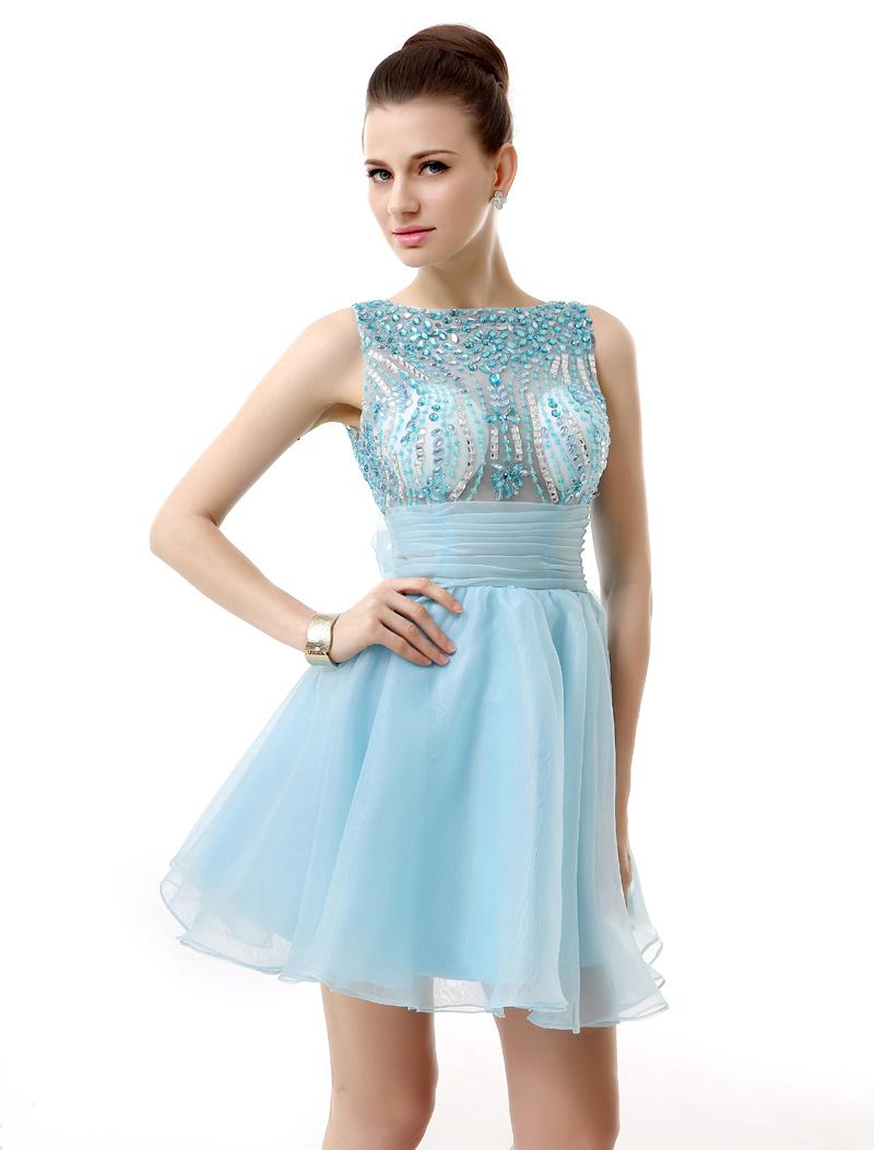 illusion rhinestone short dress