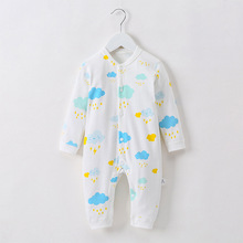 One-Piece Jumpsuits Buttons-Up 100% Cotton Long-Sleeves Pink Cute Coveralls 3-12 Months