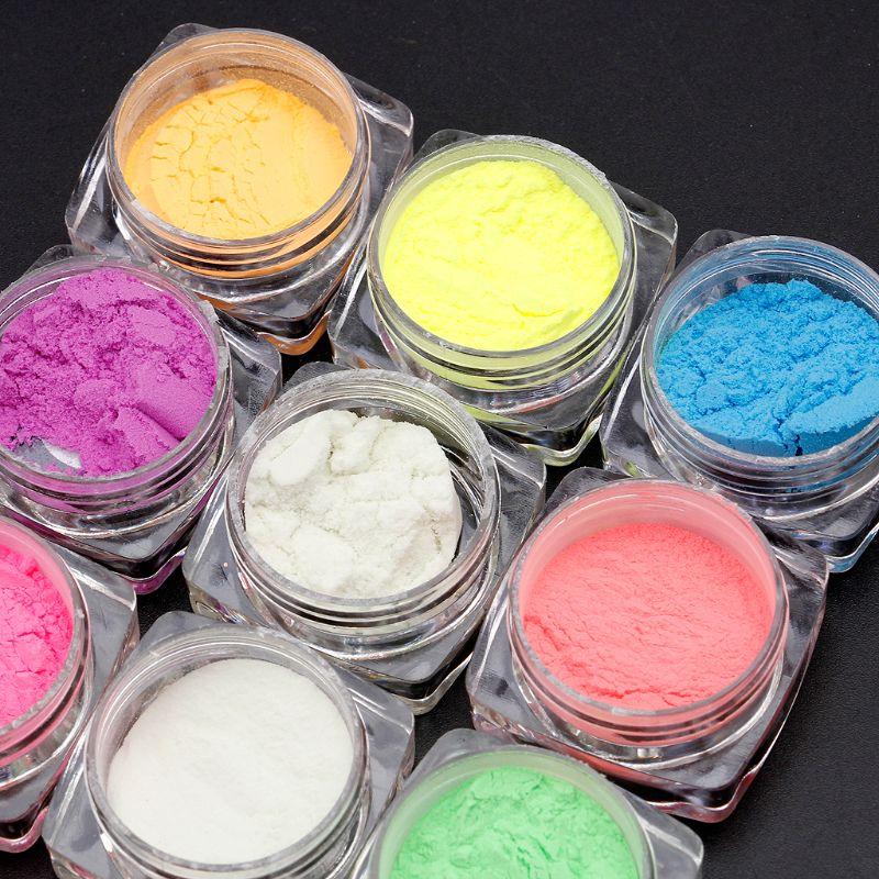 Купить с кэшбэком 10 Colors Luminous Powder Resin Pigment Dye UV Resin Epoxy DIY Making Jewelry making tools For Fine Arts Crafts DIY Escape Signs