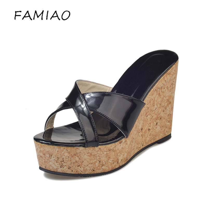 FAMIAO summer women mules clogs wedge sandals garden shoes handmade artifical pearl slippers jelly color casual beach sandals hahaflower summer women slippers flower slipper beach thong slipper mules clogs garden shoes woman flats jelly sandals flip flop