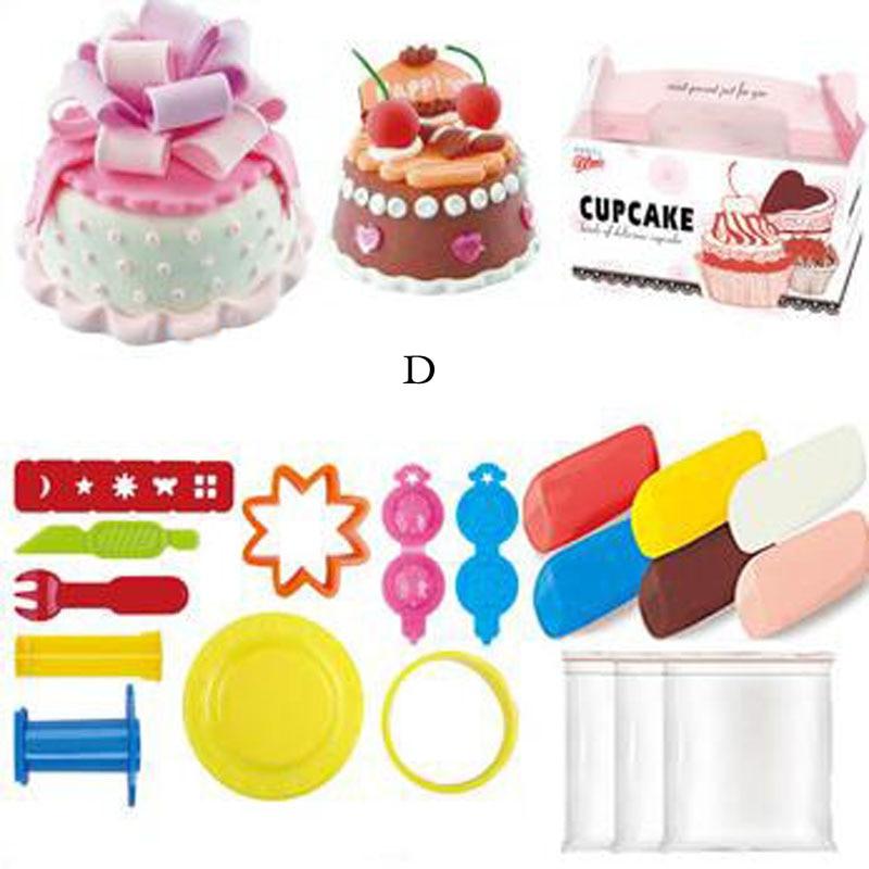 Новий міні торт на день народження торт екологічно чисті глини playdough формують дитячі іграшки
