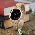 BOBO BIRD elegante relojes de mujer Simple Dial banda de madera reloj de pulsera de cuarzo con caja de regalo de madera reloj mujer aceptar Dropshipping