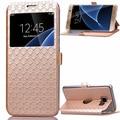 Caso de telefone protetora para Samsung Galaxy S7 ver janela Flip caso capa de couro para Galaxy S7 caixa