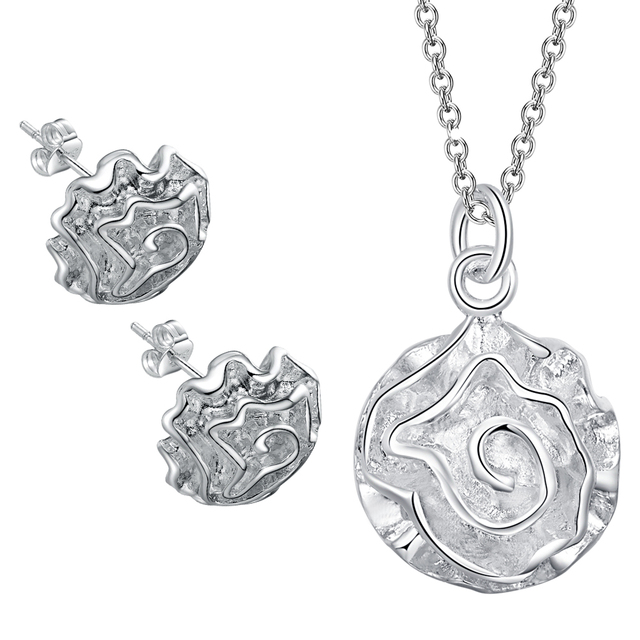 Hot silver plated lovely jewellery sets free Shipping fahion Jewelry Sets Earrin