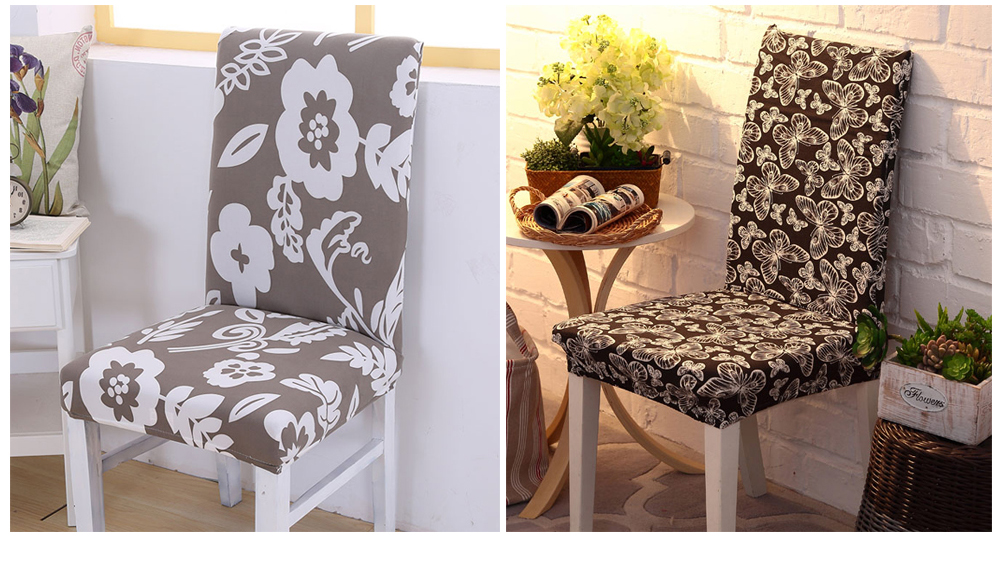 1246PCS Geometry Spandex Chair Cover Dining Washable slipcover for seat Elastic Kitchen Chair Covers Stretch Furniture Covers (11)