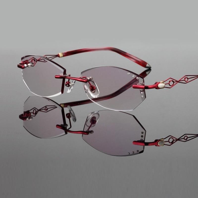 Trend Weiblich 137 pink Gläser Legierung Tragen Neue Schneid Spektakel Frauen Red Brillengestell Fertig Lentes Dame purple Freies 17 53 Licht Super 6wtAy5xxqH