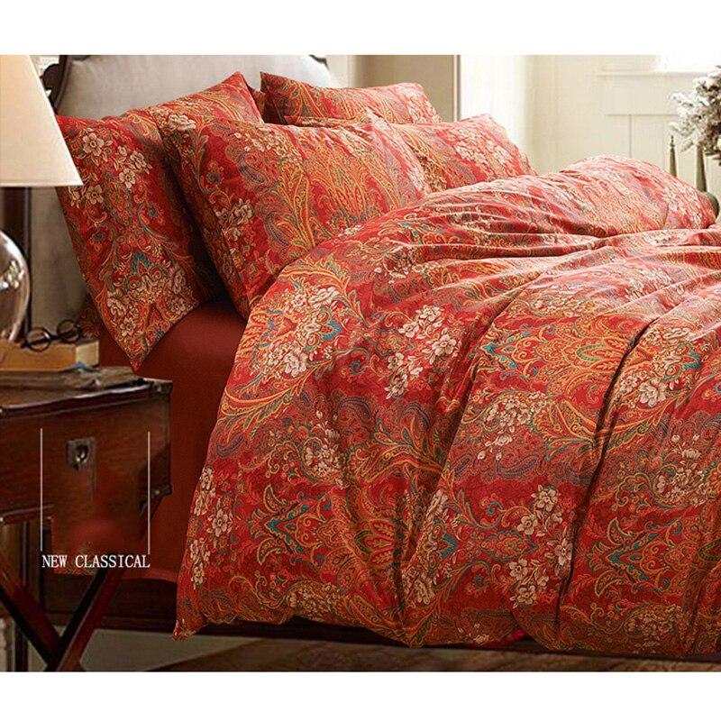 chausub qualit satin coton gyptien ensemble de literie 4 pc de luxe housse de couette. Black Bedroom Furniture Sets. Home Design Ideas