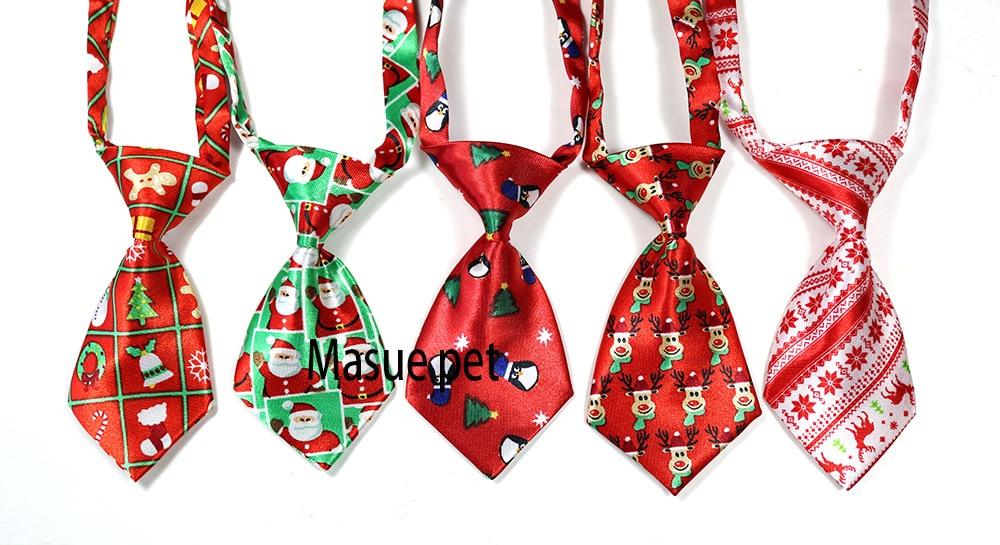 100pcs Christmas Pet Supplies Pet Dog Cat Xmas Neckties Bowties Santa Deer Pet Dog Grooming Accessories Small-Middle Dog Ties