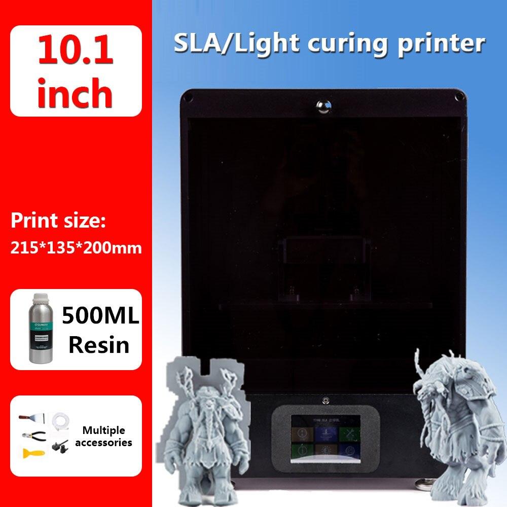 IGRARK Nuovo SLA/DLP/LCD 3D Stampante FAI DA TE Con La Stampa di Grande Formato 216*135*200 MILLIMETRI di alta Precisione Impresora 405nm UV Resina 3d Stampante