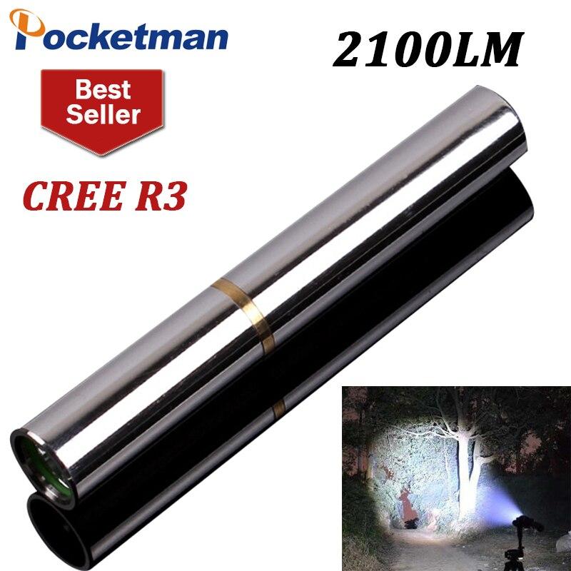 الصمام البسيطة مضيا الشعلة كري r3 2100 لومينز penlight امب torche ماء المقاوم للصدأ المحمولة متعددة ل 10400