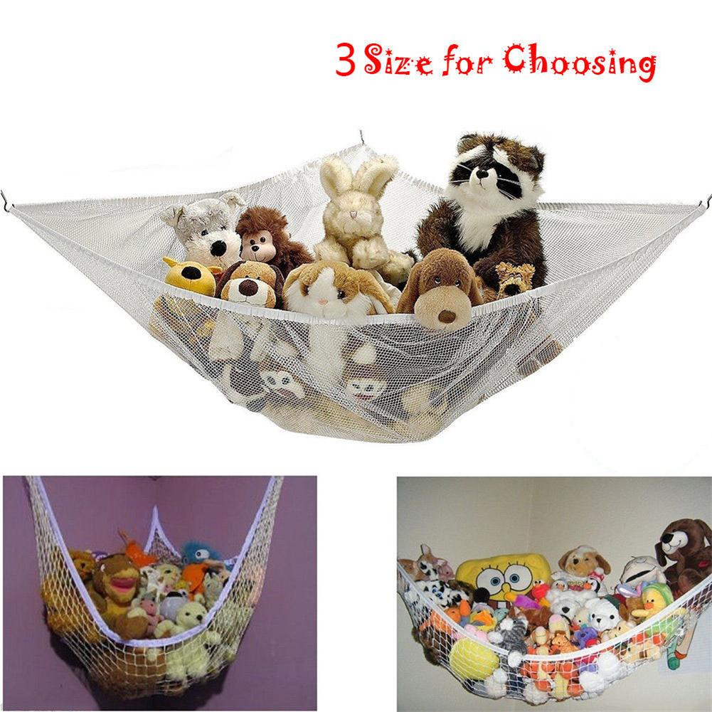 Mother & Kids Organizer Stuffed Tidy Storage Teddy Childs Organize Large Bedding 25lbs Dolls Kids Soft Baby Bedroom Mesh Toy Hammock Animals Activity & Gear