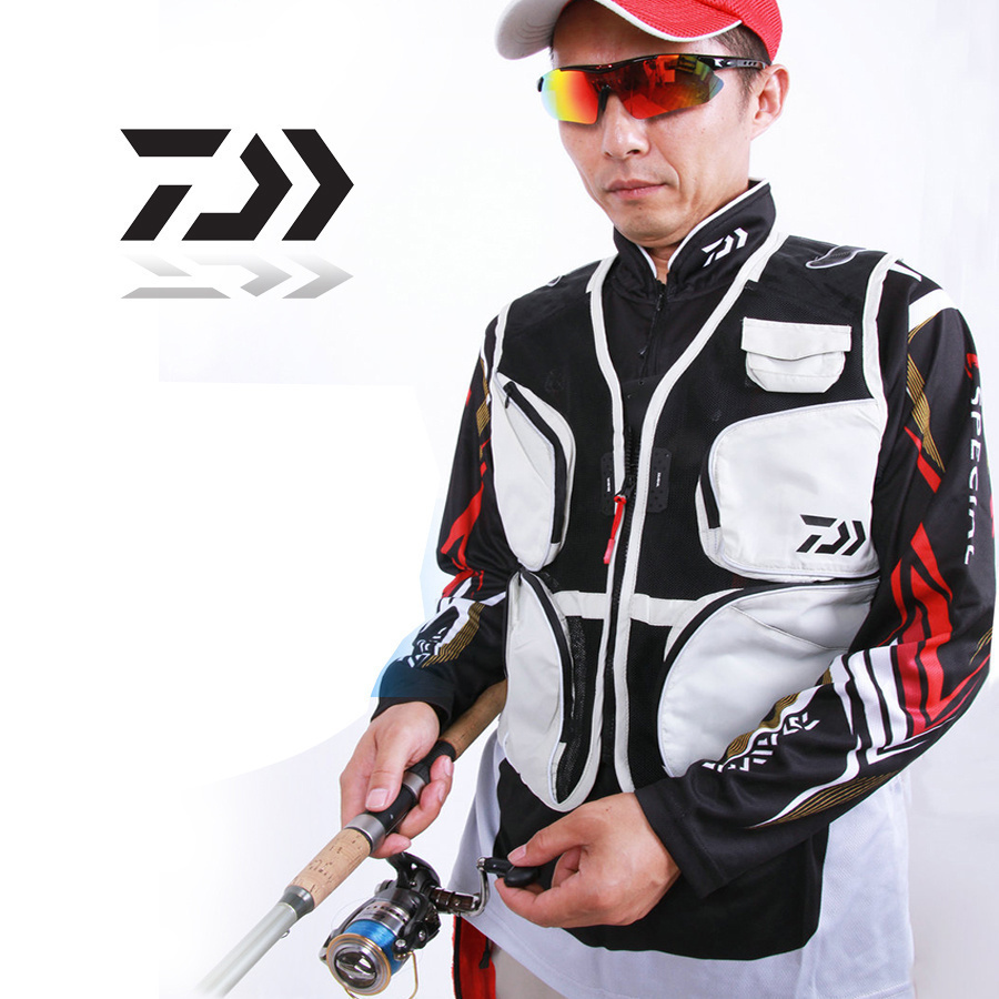 2017 NEW DAIWA Fishing Leisure Vest outdoor Breathable sport DAWA Multi-function Multi Pocket Special offer DAIWAS Free shipping