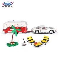 Новый XingBao 08003 2436 шт. креативная Серия набор MOC Camper детские развивающие строительные блоки кирпичи игрушки модель подарки для мальчиков