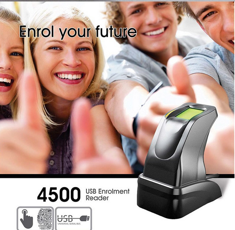 все цены на  Original! USB fingerprint sensor USB Bimetric Fingerprint Scanner USB Entrolment Reader ZK4500 Compatible with Windows 8  онлайн