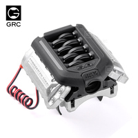GRC simulation engine radiator F11 V8 1/10 rc car 36mm motor cooling fan engine hood heat sink