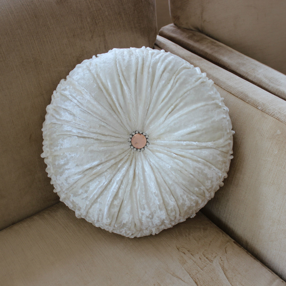 Round Decorative Pillow Set : Round Sofa Cushions Vezo Home Handmade Red Sofa Chair Seat Satin Round Cushion Pillow - TheSofa