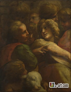 Canvas Prints ( Ludovico Carracci) classic oil painting reproduction printed on canvas for room Religion-012 image