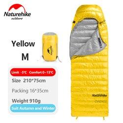 Naturehike спальный мешок открытый зимний теплый кемпинг конверт Тип белый гусиный пух одного человека спальные мешки NH18C400-D