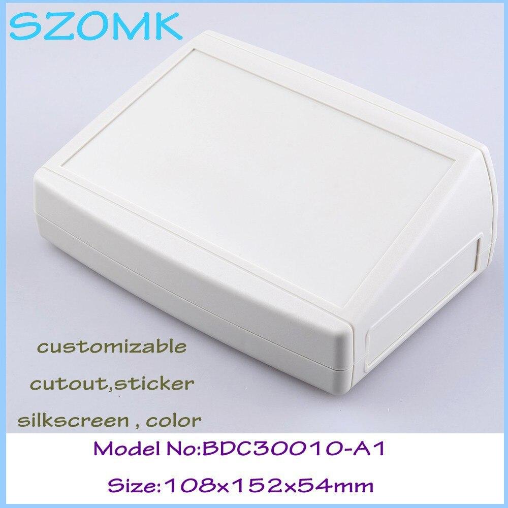 Szomk Plastic Enclosure For PCB Instrument Housing (1 Pcs) 108*152*54mm Plastic Electronics Case Housing Instrument Control Box