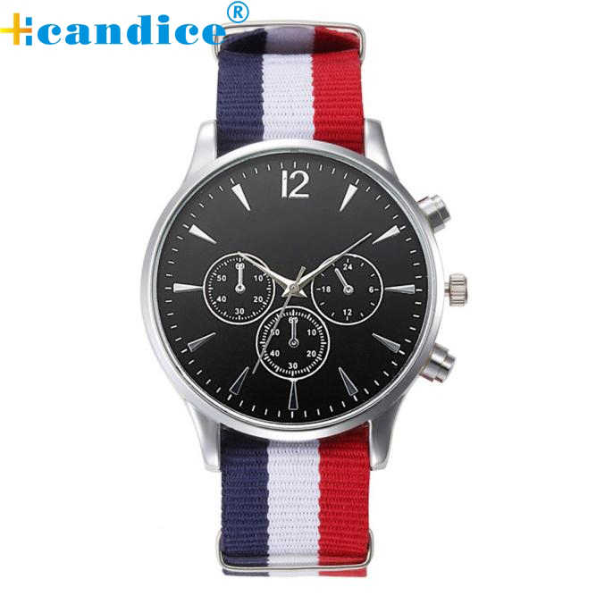 Splendid 2016 חמה למכירה זכר שעוני יד צמיד אופנה יוקרתית בד Mens אנלוגי שעונים באיכות גבוהה
