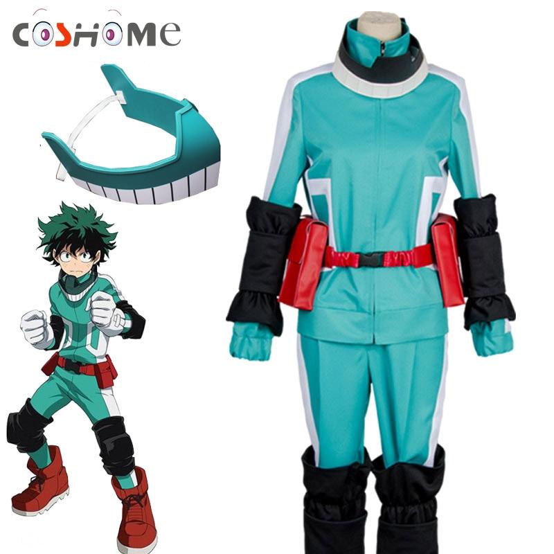 Coshome Anime Boku No My Hero Academia Izuku Midoriya Cosplay Costumes Battle with Mask for Halloween Party