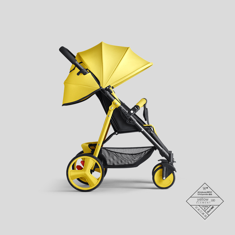 YAOYA PLUS Stroller Can Sit Reclining Simple Mini Stroller Folding Four Seasons Portable Summer Cool Baby Stroller