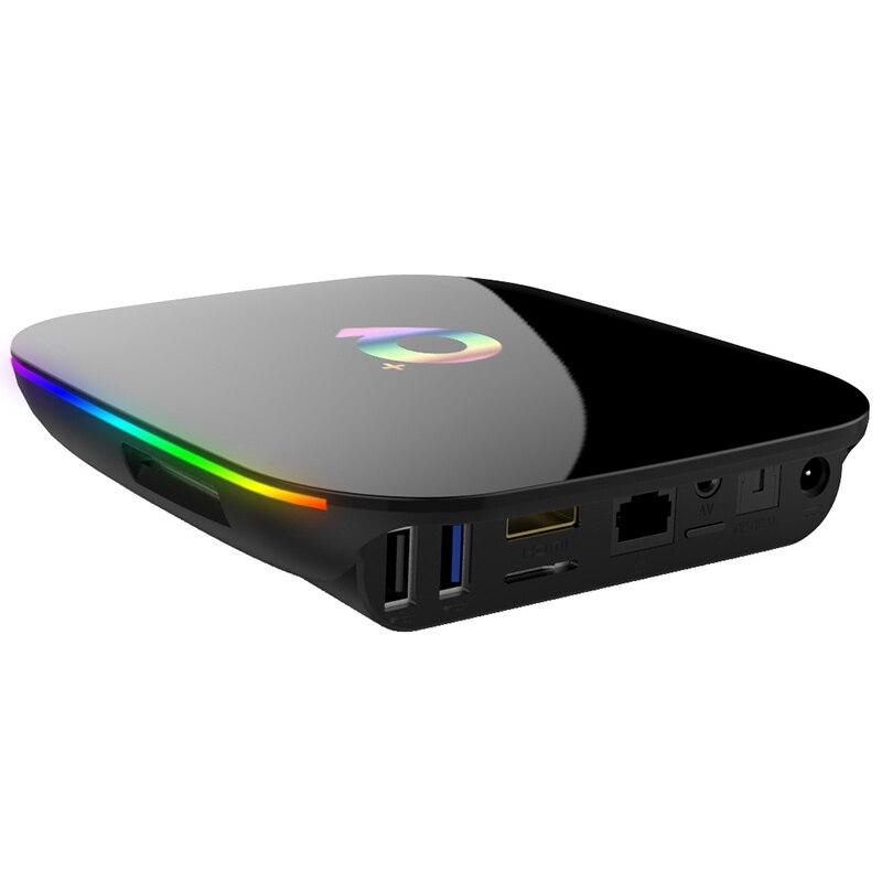 Android 9.0 Smart Tv Box H6 Quad Core 4 Gb 32 Gb 1080 P 6 K Hd Home Media Player Box 2.4G Wifi décodeur pour nouveau téléviseur ancien Eu Plug