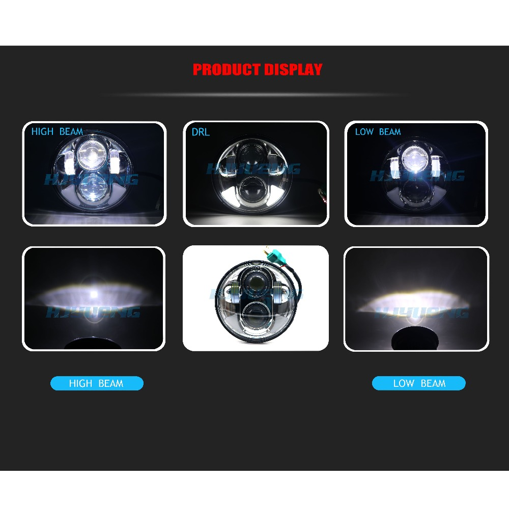 45W 5 75 Inch Projector LED Headlight Car Angel Eyes DRL Running Lights for 88 Motorcycles Front Driving Headlamp Head Light