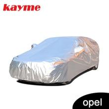Kayme alumínio capas de carro à prova dsuper água super proteção solar poeira chuva capa do carro universal completo suv proteção para opel